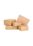Pakavimo dėžės iš 3 sluoksnių gofruoto kartono 390x290x250 (B banga)
