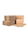 Pakavimo dėžės iš 3 sluoksnių gofruoto kartono 380x253x130mm (B banga)