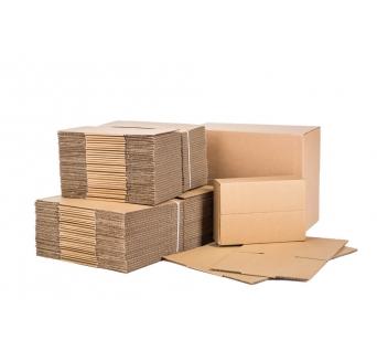 Pakavimo dėžės iš 5 sluoksnių gofruoto kartono 410x320x70mm (BE banga)